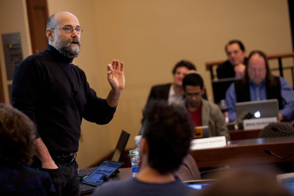 """Yochai Benkler, the Berkman Professor of Entrepreneurial Legal Studies, is studying, tracking and graphing the spread of information and misinformation. """"It's not about fact-checking, it's about frame shifting,"""" Benkler said."""