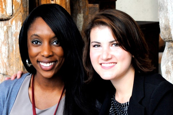 Jessica O. Matthews (left) and Julia Silverman are the recipients of the Harvard Foundation 2012 Scientist of the Year Award. Photo courtesy of Unchartered Play Inc.