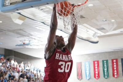 Kyle Casey tallied 19 points, as the Harvard men's basketball team earned a 77-70 win in overtime on the road at Columbia.