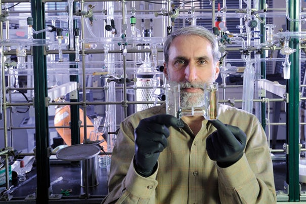 """Daniel G. Nocera, a chemist whose work is focused on developing inexpensive new energy sources, has been appointed the Patterson Rockwood Professor of Energy in Harvard's Department of Chemistry and Chemical Biology. Nocera said he was attracted to Harvard because """"it's not enough to just invent something; you need the wide interdisciplinary reach and focus of Harvard to fulfill the vision of bringing something to the entire world."""""""