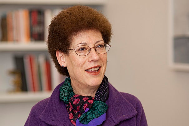 """""""I like to think of Radcliffe as Harvard's front door — open and welcoming to all who seek intellectual nourishment and creative inspiration,"""" said Lizabeth Cohen, an eminent scholar of 20th-century American social and political history, who was named dean of the Radcliffe Institute for Advanced Study."""