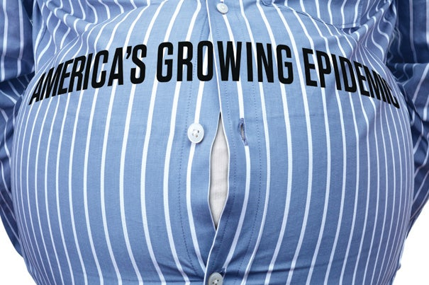 The twin epidemics of obesity and its cousin, diabetes, have been the target of numerous studies at Harvard and its affiliated hospitals and institutions. Among seminal findings was the first study to document the extraordinarily tight connection between the two diseases. Research done by Harvard School of Public Health Professor Walter Willett and his colleagues showed that being even slightly overweight increased diabetes risk five times, and being seriously obese increased it 60 times.