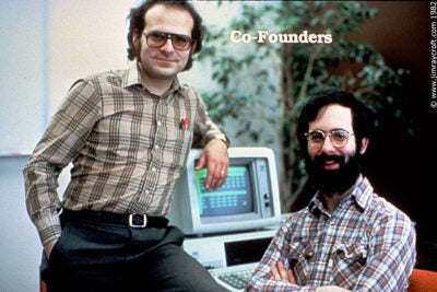 In the spring of 1978, Dan Bricklin (right) had an idea that would forever change the personal computer business. He met co-creator Bob Frankston (left) at MIT's Laboratory for Computer Science.