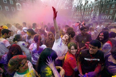 """Holi is primarily a celebration of the coming of spring and commemorates various aspects of Hindu mythology,"" said Neil Patel '13, co-president of Dharma. ""The festivities usher in spring and the season of love."""