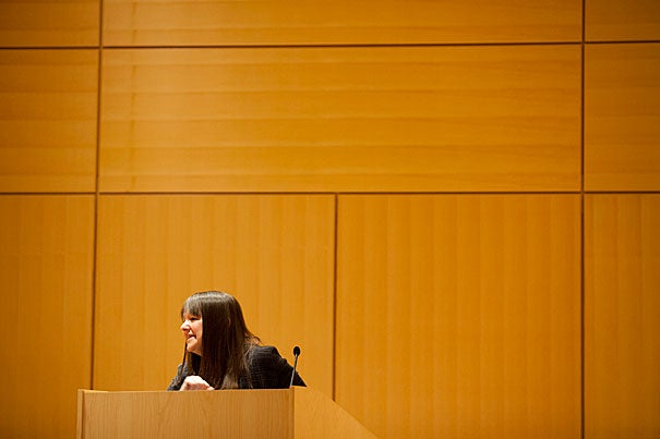 "Anne Fadiman, the Francis Writer-in-Residence at Yale University and a member of Harvard's Board of Overseers, explored the varieties of book lover in ""Using Bacon for Bookmarks: How Readers Treat Their Books."" The talk was a fitting installment in the John Harvard Book Celebration, which took place April 1 at Cambridge Public Library."