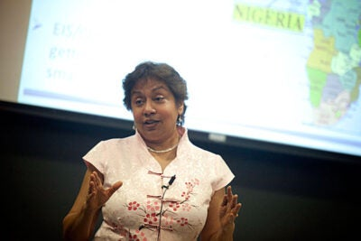 Debarati Guha Sapir, director of the Brussels-based Centre for Research on the Epidemiology of Disaster, said that some of the dramatic increase in natural disasters observed since 1950 — up to 400 in 2011 from 50 in 1950 — is due to improved communications and reporting in remote places that used to be invisible to the international community.