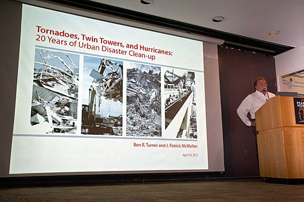 """""""For the past 20 years, Phillips & Jordan has been involved in some of the most prolific events this country has had the misfortune to experience,"""" said Ben R. Turner, president, in a recent Harvard talk, """"Tornadoes, Twin Towers, and Hurricanes: 20 Years of Urban Disaster Clean-up."""""""