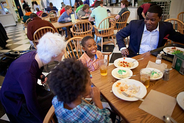 """""""My dining room table was my first and primary classroom,"""" said Jonathan L. Walton, the new Pusey Minister in the Memorial Church effective July 1. """"I saw the ministry as an opportunity to think out loud about the most pressing human questions without losing sight of human needs."""""""