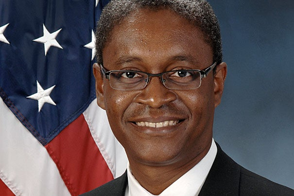 """""""Harvard has been truly foundational for me and is a thread in everything I do,"""" said Raphael Bostic, who is assistant secretary for policy development and research for the U.S. Department of Housing and Urban Development."""