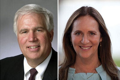 Richard A. Meserve, J.D. '75, has been elected president of the Harvard Board of Overseers and Lucy Fisher '71 will be the vice chair of the Board of Overseers' executive committee.