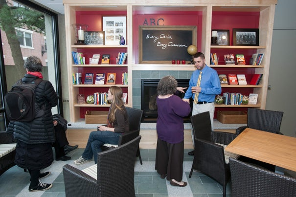 The Harvard Graduate School of Education's Gutman Library has been partially refashioned into a thriving community space with areas dedicated to studying and socializing.