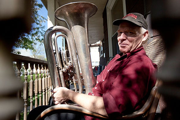 """I gradually came to understand that music was a community-building exercise, and that got me interested in thinking about the social and community uses of music, and the arts in general,"" said Gregg Moore, who is graduating Harvard at the age of 59. After, he's headed to California to work with a small nonprofit, the Ink People Center for the Arts, to organize community music and arts events."