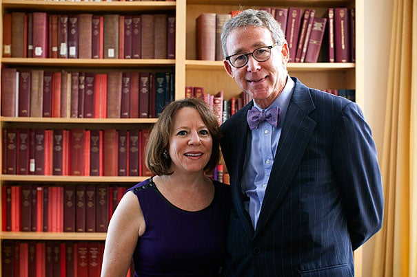 "Harvard Alumni Association President Ellen Gordon Reeves, A.B. '83, Ed.M. '86, is leaving the association in good hands as she prepares to pass the baton to Carl Muller, A.B. '73, J.D. '76, M.B.A. '76, a two-time Harvard parent. Muller, a lawyer in Greenville, S.C., wants to encourage alumni to explore their Harvard ""past, present, and future"" during his tenure, a goal that seems especially apropos on the heels of Harvard's 375th birthday."