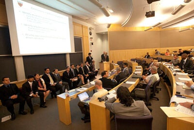 "Harvard students in the ES 96/CS 96 section called ""Counter Gang Mobile Application"" presented their capstone project based on the past four months they spent immersed in the real world of crime analysis in Springfield, Mass. The students were tasked with finding a way to measure the effectiveness of the Counter Criminal Continuum (C3), used to track and counter gang violence."