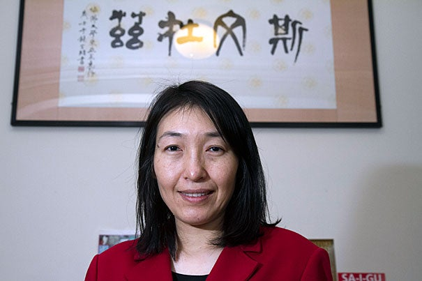 """""""America's well-being is tied to the role that China plays in today's world, and so learning its language — but also its culture — is so important,"""" said Jennifer Li-Chia Liu, who is focusing on those topics to help develop an increasingly integrated pedagogy within Harvard's curriculum."""