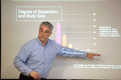 """I think the spread of germs is the price we pay for the spread of information,"" said Nicholas Christakis, whose research has shown how everything from obesity to smoking to happiness spreads through social networks. ""The benefit of a connected life outweighs the cost,"" he added."