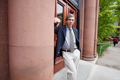 """If you live in a society that is dysfunctional and unhealthy, where people are doing better than you, you need solace from somewhere. You get it from religion,"" said Jerry Coyne. ""The thing that blocks acceptance of evolution in America is religion."" Coyne's talk, sponsored by the Harvard Museum of Natural History, was part of its ""Evolution Matters"" lecture series."