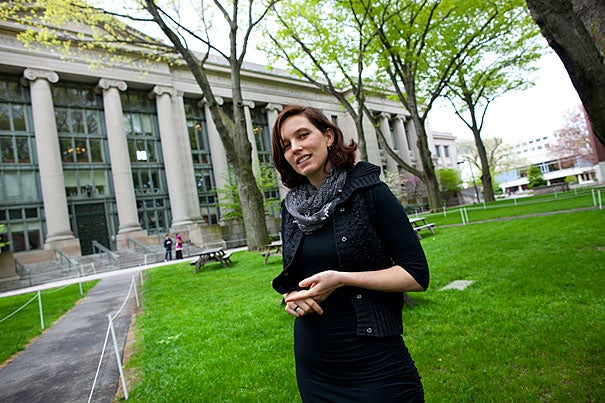 "While in college, Clara Long spent a spring semester in Belém, Brazil. ""That totally changed the trajectory of my life,"" she said, and turned a passion for tending the environment into ""something that was much more about people."" Now graduating from Harvard Law School, Long is interested in human rights, and views her education at Harvard as a way of acquiring ""tools for dealing with injustice."""