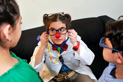 """My clown is a weird-looking doctor named Bill,"" said Laura Ricci, who is graduating from the Harvard Graduate School of Education. ""He has a big moustache, and he wears a funny-looking skirt and two pairs of glasses because he's just that smart. Actually, when my friends at the hospital found out that I was going to Harvard, they joked that when I came back, Bill would have three pairs of glasses."""