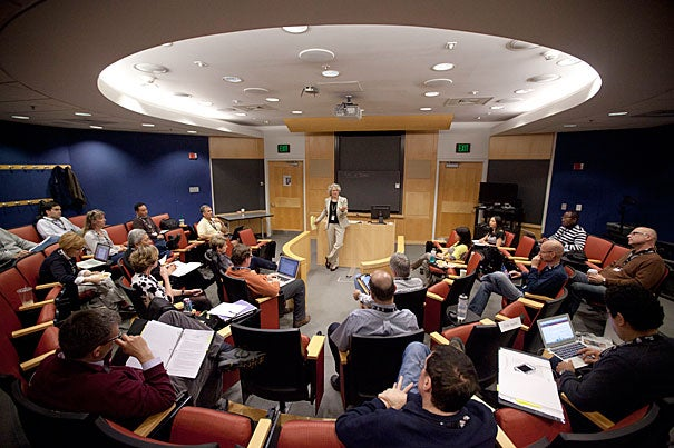 """""""Education is evolving from an individual to a team sport, where the instructor as coach designs a curriculum that guides active student learning through multiple channels,"""" said Nancy Kane, professor of management and associate dean for educational programs at the Harvard School of Public Health."""
