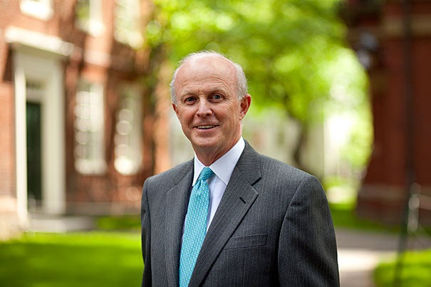 """""""Harvard means a great deal to me, and I'm grateful for this opportunity to help guide its future,"""" said Paul J. Finnegan, A.B. '75, M.B.A. '82. Finnegan's appointment, effective July 1, 2012, comes as the Corporation continues its gradual expansion from seven to 13 members, following changes approved by the governing boards in December 2010. With Finnegan's addition, the Corporation will have grown to 11 members in all, with the expectation of adding two additional fellows in the time ahead."""