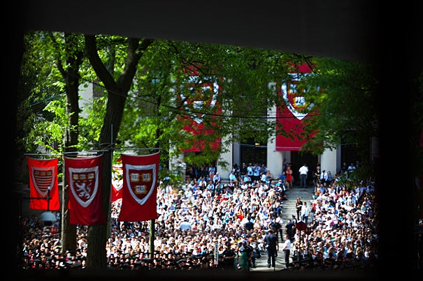 Harvard University celebrates its 361st Commencement in Tercentenary Theatre.