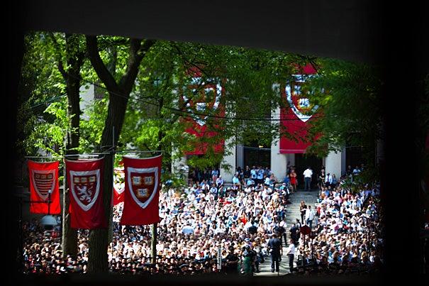 Harvard University celebrates its 361st Commencement in Tercentenary Theatre.