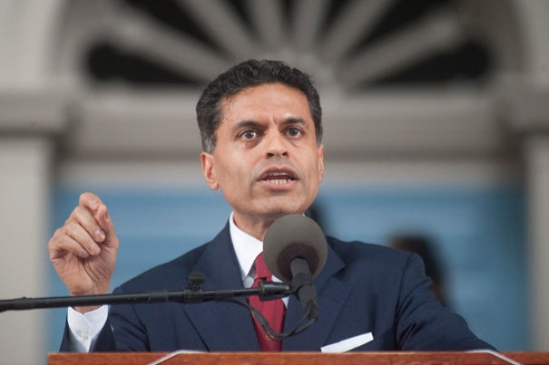 Fareed Zakaria addressed the Harvard Alumni Association during the Afternoon Exercises at Harvard's 361st Commencement.