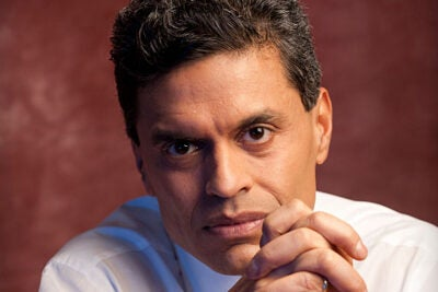 Doctor of Laws recipient Fareed Zakaria is one of the best-known and well-respected journalists of our time. In a career that has included prominent roles at Newsweek, Time, CNN, and The Washington Post, Zakaria has interviewed world leaders ranging from Barack Obama to the Dalai Lama, from Moammar Gadhafi to former Russian President Dmitry Medvedev. He has tackled issues including globalization, the Middle East, international relations, and America's role in the world.