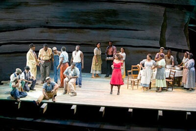 "The A.R.T.'s ""The Gershwins' Porgy and Bess"" — a Tony Award winner for best musical revival — was nominated in 10 categories and also scored a best actress award for Audra McDonald's (above, red dress) wrenching performance as Bess in the classic American opera."