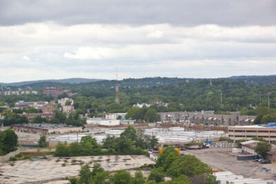 Part of the site of the future Health and Life Science Center complex in Allston.