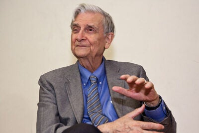 """In a special way it is the culmination of a long life and career that have led me to the same purpose of this prize: the harmonious coexistence of humanity and the natural world,"" said E.O. Wilson, after being named the recipient of the 20th annual International Cosmos Prize by Japan's Expo '90 Foundation."