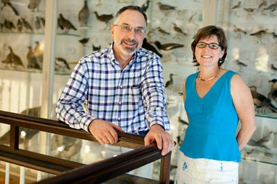 Launched in 2007, the Encyclopedia of Life (EOL) recently received a major grant from the Alfred P. Sloan Foundation. The EOL is intended as a worldwide Web portal for anyone seeking information about life on Earth, according to Agassiz Professor of Zoology James Hanken (left). Marie Studer (right) is the education and outreach project director for the Encyclopedia of Life Project.