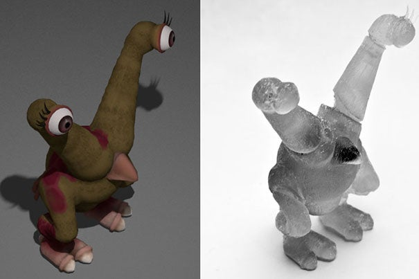 A team of computer graphics experts at Harvard developed a software tool that achieves two things: It identifies the ideal locations for the action figure's joints, based on the character's virtual articulation behavior, and then it optimizes the size and location of those joints for the physical world. Then the 3-D printer sets to work, and out comes a fully assembled, robust, articulated action figure, bringing the virtual world to life.