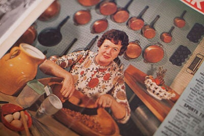 """""""Having the papers of Julia Child in a collection that focuses on the history of women, on the history of domestic arts, and on the history of cooking is really like having the Holy Grail,"""" said Marylène Altieri, the Arthur and Elizabeth Schlesinger Library's curator of books and printed materials."""