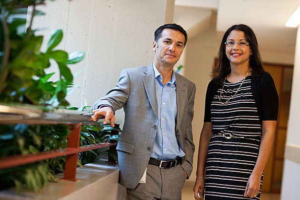 Low estrogen levels can make women more vulnerable to trauma at some points in their menstrual cycles, while high levels of the female sex hormone can partially protect them from emotional disturbance, according to new research by Mohammed Milad (left) and Kelimer Lebron-Milad.