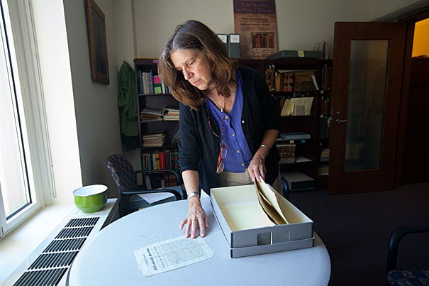 """They certainly pull you in,"" said Mary Person, the archivist who catalogued most of the broadsides collection at the Harvard Law School Library. Person has looked at hundreds of broadsides and their dramatic stories of crime and punishment. ""Human nature doesn't change,"" said Person of the broadsides' popularity. ""There is morbid fascination."""
