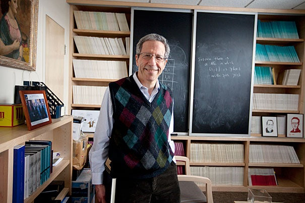 """""""Being named to the Adams University Professorship is a tremendous honor, for which I feel very grateful,"""" said Eric S. Maskin, a Nobel laureate, who was named a University Professor, Harvard's highest honor for a faculty member."""