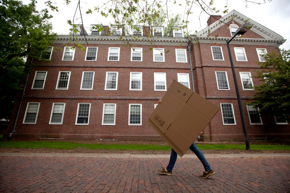 Total eclipse:  A student moves from Old Quincy House into swing housing.