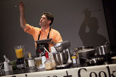 """You could spend your whole life thinking about eggs and have a reason to get out of bed every morning,"" said molecular gastronomy pioneer Dave Arnold, director of the French Culinary Institute's culinary technology department, who kicked off the ""Science and Cooking"" public lecture series with co-speaker Harold McGee."