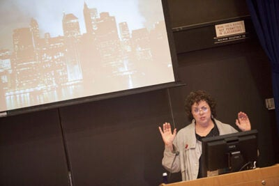 """A lot of the most important public health aspects of 9/11 were completely buried and overlooked, and continue to be even today,"" writer and journalist Laurie Garrett told the crowd in a talk at the Harvard School of Public Health."