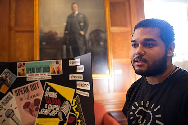 """""""This group was created out of a need and a desire for a space for spoken word to exist, and for collaboration,"""" said Bryan Erickson '15 of Speak Out Loud, a campus spoken word organization."""