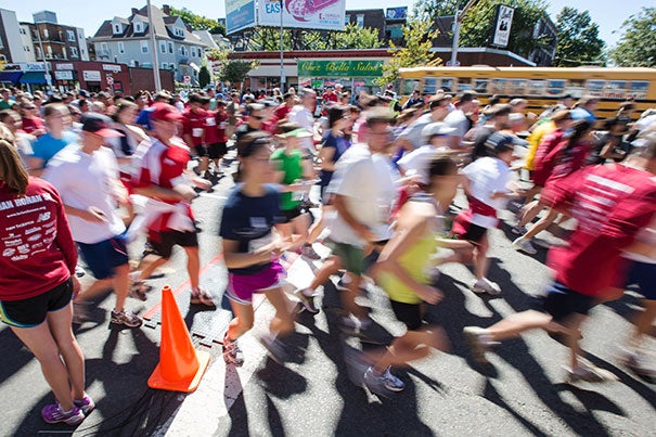 Approximately 400 Harvard runners joined a total of 1,500 participants in the ninth annual Brian Honan 5K Run/Walk.