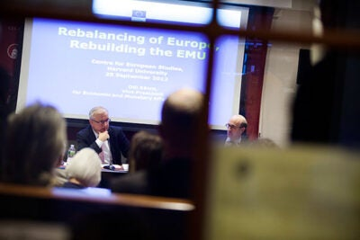 """I'm convinced that all this hard work will start bearing fruit in the not-too-distant future, and in fact the first signs are already visible,"" said Olli Rehn, vice president of the European Commission, about progress in the wake of the Euro crisis."