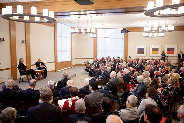 More than 160 people attended the Harvard Governing Boards' reunion of past and present members.