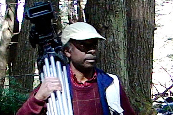 """Roberto Mighty's exhibit, """"First Contact,"""" opens Sept. 23 with a one-time film screening and an artist presentation. The exhibit is the culmination of Mighty's yearlong artist residency at the Harvard Forest. The exhibit continues through October."""