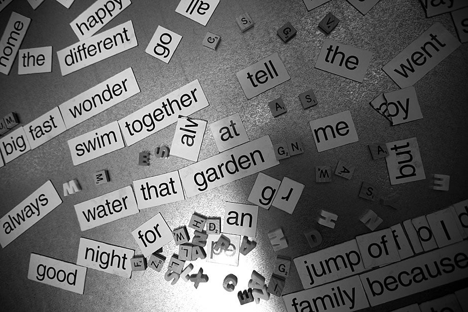 Magnetic poetry inspires at Quincy House. Kris Snibbe/Harvard Staff Photographer