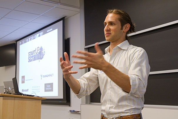 The next generation of entrepreneurs is less likely to pigeonhole themselves as business moguls or do-gooders, said Stephen Douglass, whose company Young Impact hosts scrambles at colleges across the country.