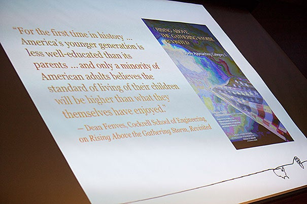 """Joel Klein, the former chancellor of the New York City Department of Education, spoke at the Harvard Graduate School of Education on Monday, outlining his plan for a """"transformative"""" approach to the country's ailing primary and secondary education systems."""