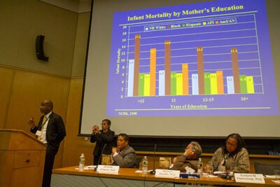 """It is a social justice issue,"" said Norman Professor of Public Health at the Harvard School of Public Health David Williams of health disparities in minority communities, at a University-wide symposium at the Center for Government and International Studies' Tsai Auditorium Thursday."